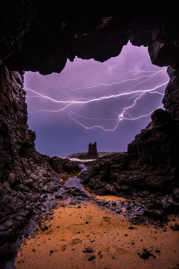 Lightning over Cathedral Rocks. EyeEmNewHere Cathedral Rock Kiama  Lightning Longexposure Lightningphotography Seascape Seascape Photography Cave Ocean New South Wales