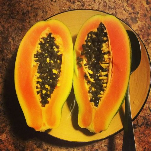Yummy Organic Breakfast Hawaiiorganics Papaya whatveganseat vegan