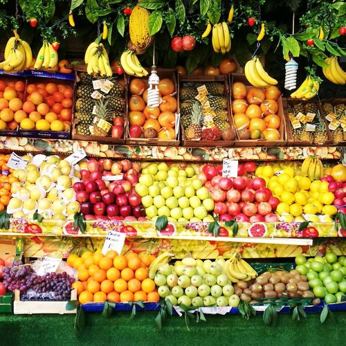 Fruit Food Healthy Eating Abundance Freshness Multi Colored Vegetable Banana Apple - Fruit Market First Eyeem Photo