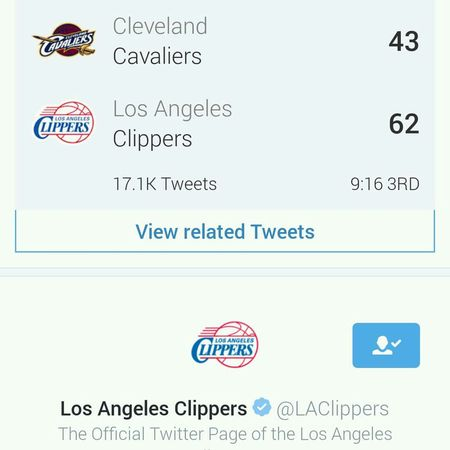 Los Angeles Clippers smashin the Cavaliers tonight. ClippersNation LAClippers