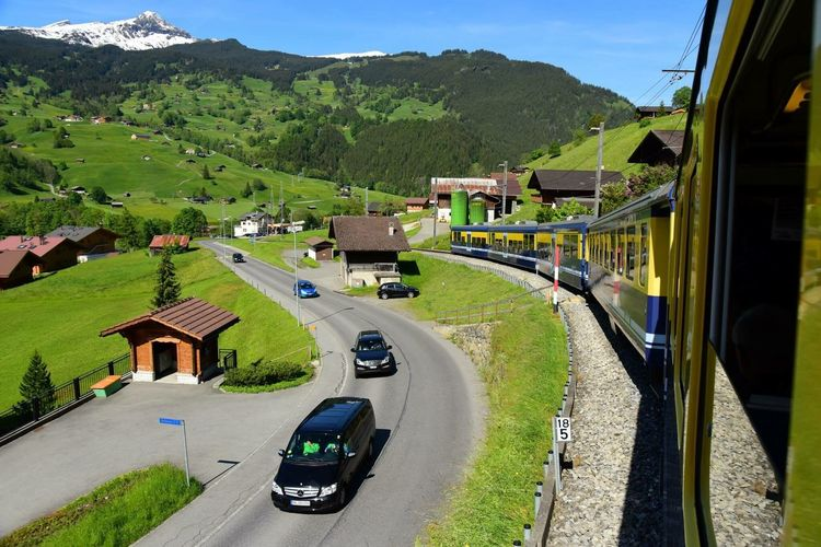 Train Mountain Swiss Mountains Travel Nature View From The Window... View Lifestyles