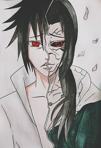 MyDrawing Naruto Shippuden  Sasukeuchiha ItachiUchiha Watercolor Painting Sketchbook