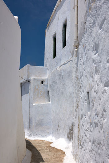 Amorgos Amorgos Architecture Blue Building Building Exterior Built Structure Clear Sky Day Door Entrance Greece History Nature No People Old Outdoors Sky Sunlight The Past Wall - Building Feature White Color Window