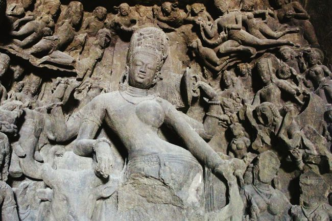 Sculpture No People Outdoors Day Monuments Indian Indiapictures Caves Photography Ajanta Caves Artistic Heritage Site Art Is Everywhere EyeEmNewHere