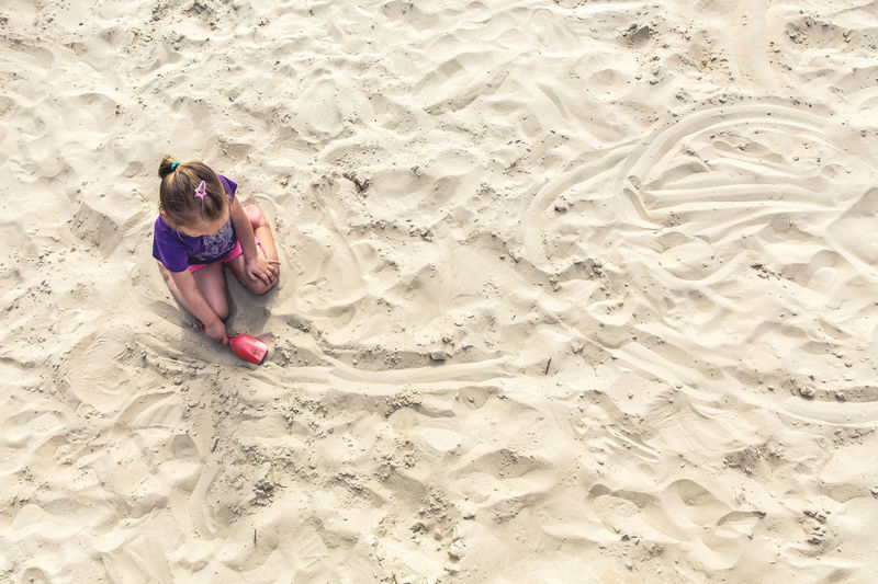 Sand Children Family Fun Kids Kids Being Kids Toys Vacations Beach Child Childhood First Eyeem Photo Girl Girls High Angle View Land Leisure Activity Lifestyles Nature One Person Outdoors Playing Sand Shovel Summer Vacation EyeEmNewHere