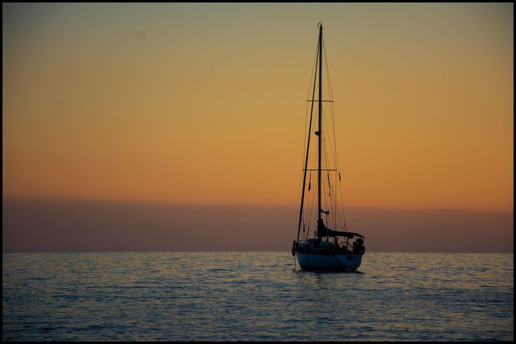 Atmosphere Boat Italy Journey Quiet Places Sailboat Sailing Solitude Sunsetontheseaside