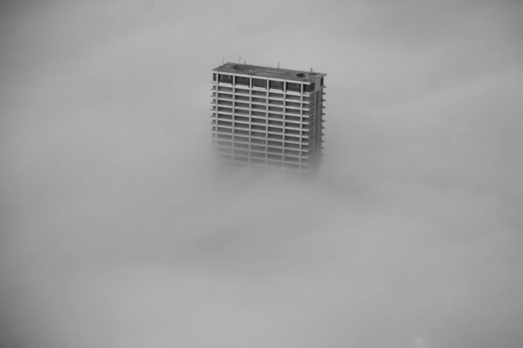 Foggy Chicago No People Architecture Built Structure Building Exterior Building Single Object Close-up Day Copy Space Outdoors City Sky Tall - High Skyscraper Chicago Architecture Chicago Architecture Urban Urban Skyline Weather City Cityscape Foggy Foggy Morning Cloud - Sky