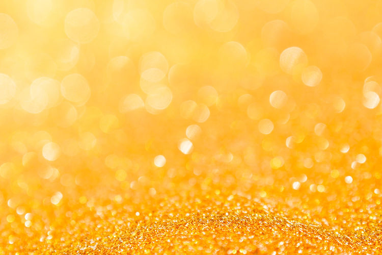 Abstract Abstract Backgrounds Backgrounds Bright Brightly Lit Celebration Copy Space Defocused Dew Glitter Gold Gold Colored Light - Natural Phenomenon No People Orange Color Ornate Pattern Shiny Softness Textured  Textured Effect Vibrant Color Yellow