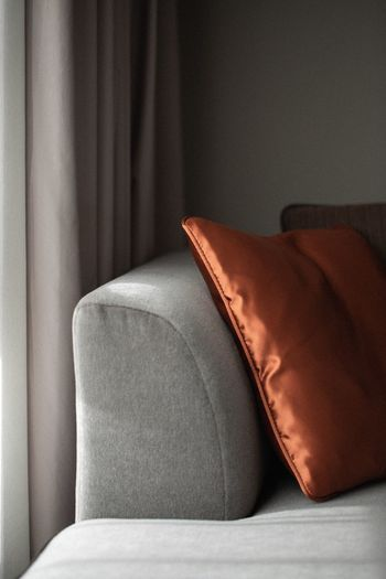 Close-up of sofa at home
