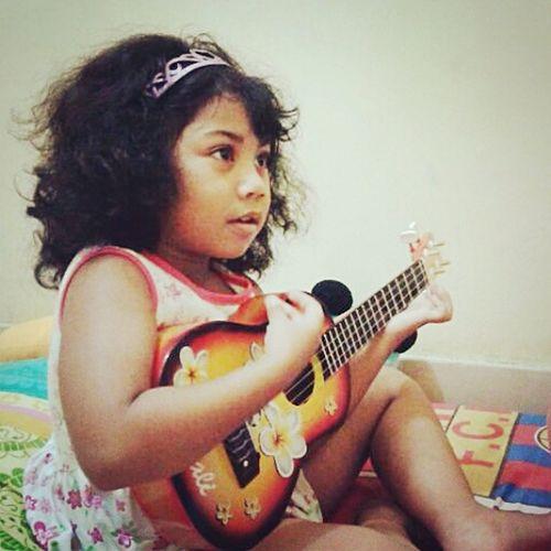 My Hobby Playing Okulele Playing Music Kids Playing Taking Photos Beautiful ♥ Little Girl Beautiful Girl