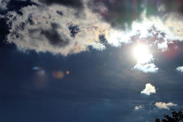 Clouds are never perfect but always beautiful. Cloud - Sky Cloudscape Dramatic Sky Low Angle View Majestic No People Non-urban Scene Outdoors Scenics Sky Sun Sun Orbs Sunbeam
