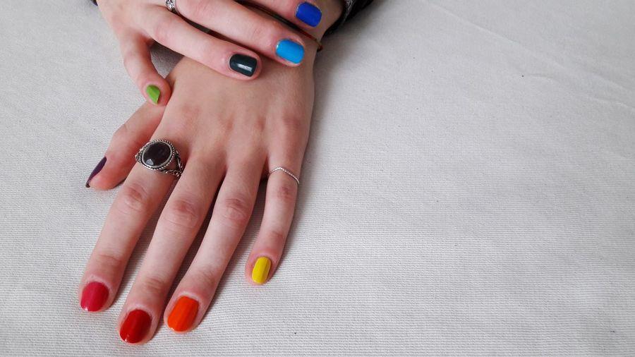 fingers Gay Pride Rainbow Colors Colors Woman Who Inspire You Womanportrait Portrait Details Fingers Human Hand Painting Fingernails Manicure Nail Polish Fingernail Females Arts Culture And Entertainment Women Fashion Nail Art