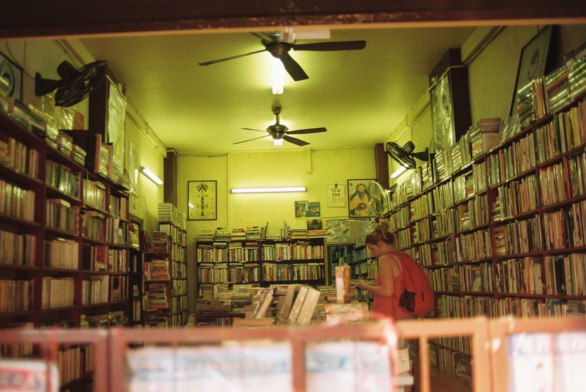 the Bookstore in Chiang Mai | Thailand Film Film Photography Indoors  One Person Travel Photography Travel