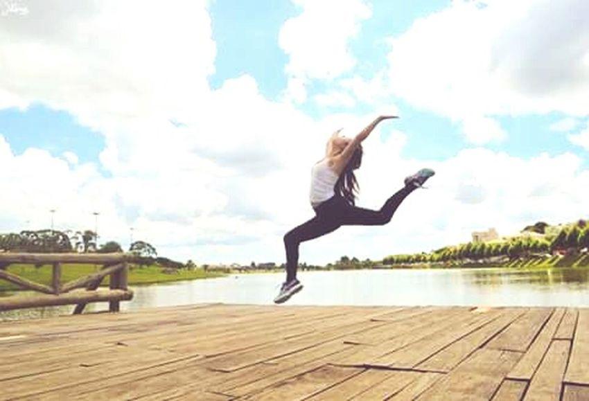 Excercising Rhythmic Gymnastics