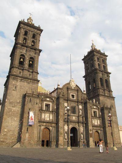 Catedral de la Ciudad de Puebla México Clock Face Clock Politics And Government City Clock Tower Religion History Business Finance And Industry Place Of Worship Sky