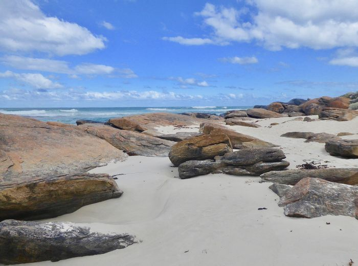 SW Australia Vacations Travel Tourism History Beach Beauty In Nature Cloud - Sky Horizon Over Water Nature No People Outdoors Rock - Object Rocky Beach With Sand Scenics Sky Tourist Destination Tranquil Scene Tranquility