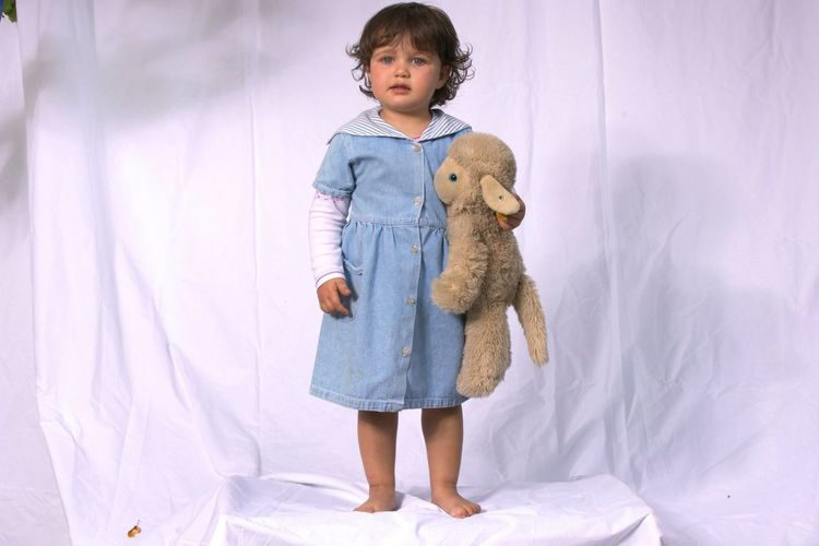 Two Year Old Little Girl with it's Sheep Child Girl Portrait Toy Steiff Children Only Studio Shot Studio Studio Photography Portraits Portrait Photography Portraiture Children Cologne PortraitPhotography Kid Kids Kids Being Kids Kidsphotography Childhood Children Photography Children's Portraits Kindergarden Kids Photography Kids Portrait