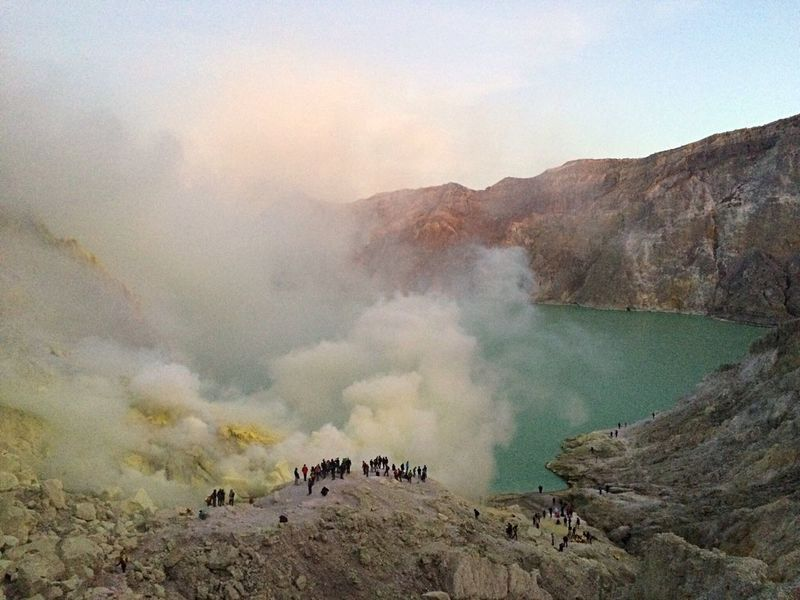 Check This Out Kawah Ijen Hello World Sunrise Enjoying Life Enjoying The View Mine Sulfur  Sulfur Miners Sulfur Gas Sulfur Rock Lake Acid Lake Blue Yellow Yellowstone Lake View Gas Toxic Java INDONESIA