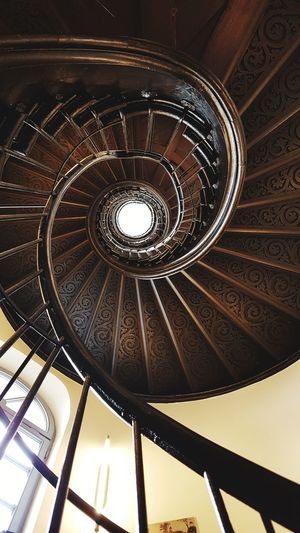 Architecture Low Angle View Built Structure Staircase Steps And Staircases Indoors  No People Spiral Staircase Frankfurt Am Main Historisches Museum Frankfurt