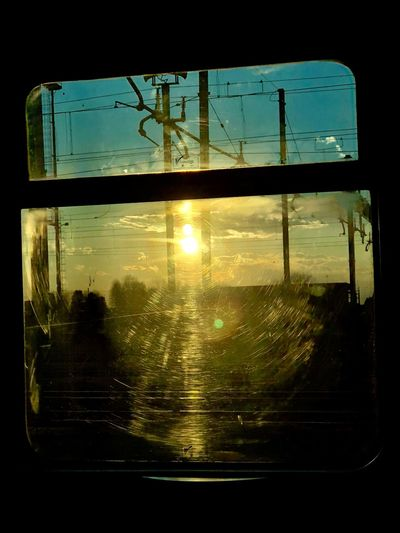 Finestrini... Treno Finestrino Train Window Train Close-up Window No People Sunset Sky Day