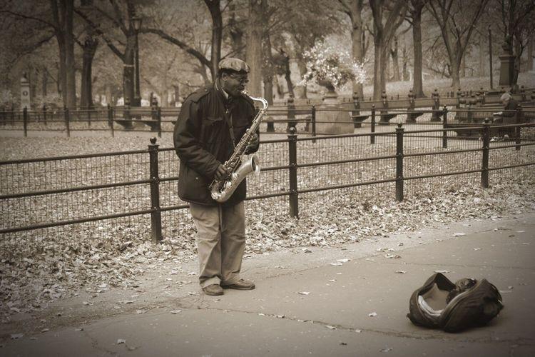 New York Central Park Jazz Sax Musician Music Artist