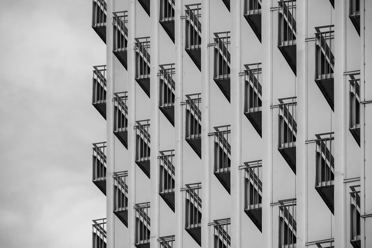 balcony .... Apartment Architectural Feature Architecture Architecture Architecture_bw Architecture_collection Balcon Balcony Balkon Balkone Black And White Building Built Structure City Life Directly Below Global Photographer Works Exhibition In A Row Low Angle View Modern Pattern Residential Building Row Showcase April Symmetry The Architect - 2016 EyeEm Awards