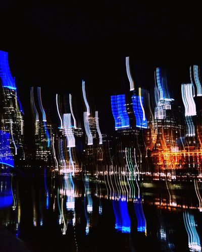 long exposure city Melbourne Yarra River Long Exposure Reflection City Lights Night Nightphotography Night Lights City Lights Illuminated Sky Waterfront Urban Scene Skyscraper Urban Skyline River Cityscape Skyline