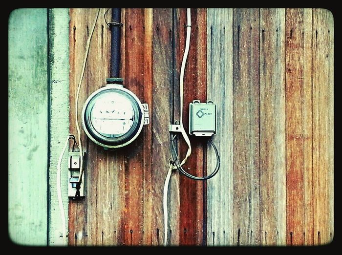 Wood - Material Wiring  Meter Meterbox Pattern EyeEmNewHere No People Outside Industrial Photography Full Frame Wall