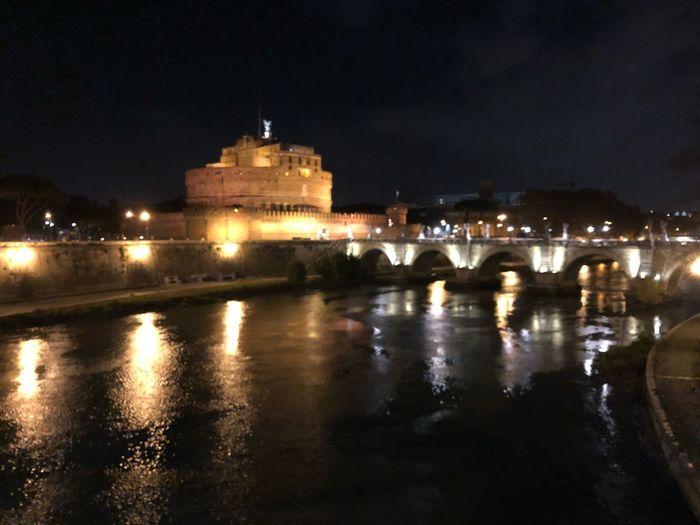 Castel Sant'Angelo, la Grande bellezza di Roma Built Structure Night Building Exterior Water Bridge - Man Made Structure Outdoors Ancient Civilization Travel Destinations City