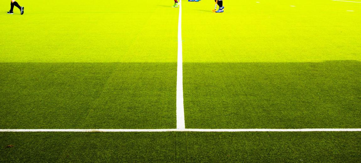 Panoramic view of hockey field
