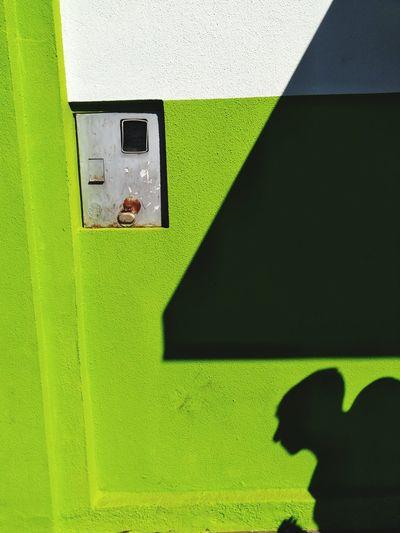 Close-up of yellow wall