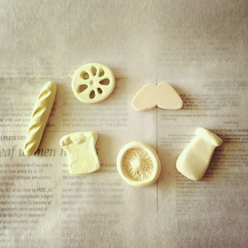 粘土の原型たち✨理想のカタチになるまで、何度も失敗しながら作りました😅少しずつ増やしていきまっす👯♪ 粘土 モチーフ ハンドメイド 原型