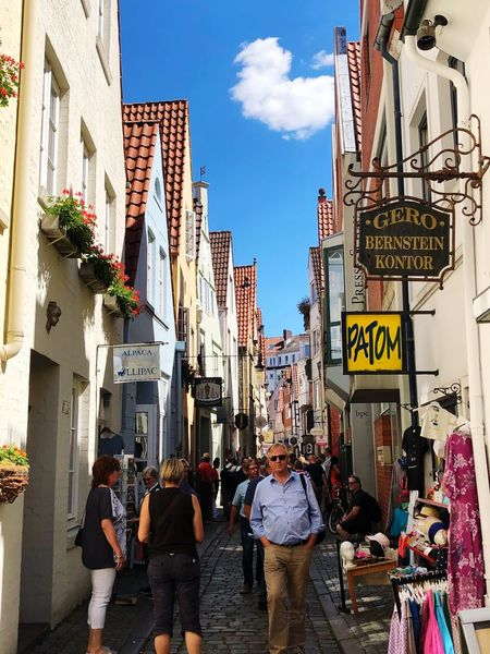 Bremen Schnoor Germany Architecture Built Structure City Group Of People Street Real People