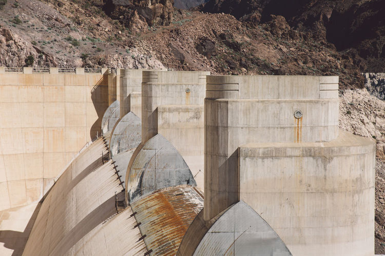 Hoover dam on sunny day