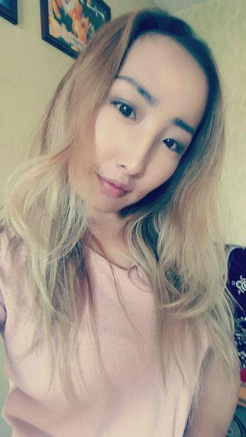 Long Hair Blond Hair Ilovemyhair ♡ Mongolia Khuvsgul Pink Color 💋💋💋💋💋😍😸❤️💖
