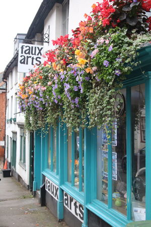 Architecture Beauty In Nature Building Exterior Built Structure City City Street England, UK Flower Freshness Growth In Bloom Marlborough Small Town Store Front Store Front Main Street Travel Destinations