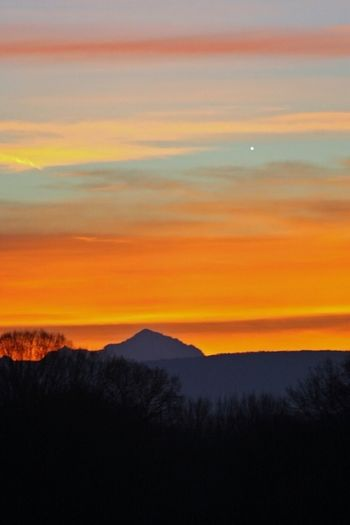 Venus Rising At Sunset Over Mont Blanc