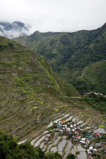 Mountain Environment Scenics - Nature High Angle View Day Nature Landscape Beauty In Nature Building Exterior Plant Transportation Mountain Range Architecture Built Structure Tree Tranquil Scene Green Color Outdoors Sky No People Banaue Philippines