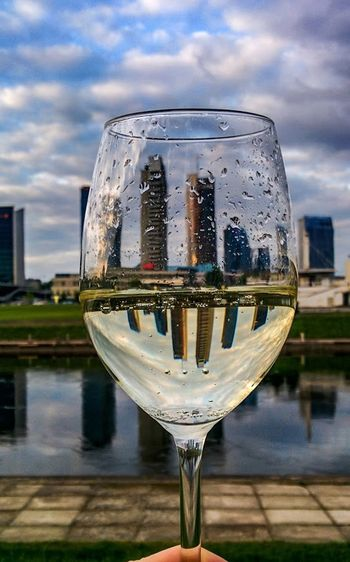 City in a Glass .. Realestate Vilnius Champagne Celebratelife Skyscraper Bigcitylife Moment Stopping Time