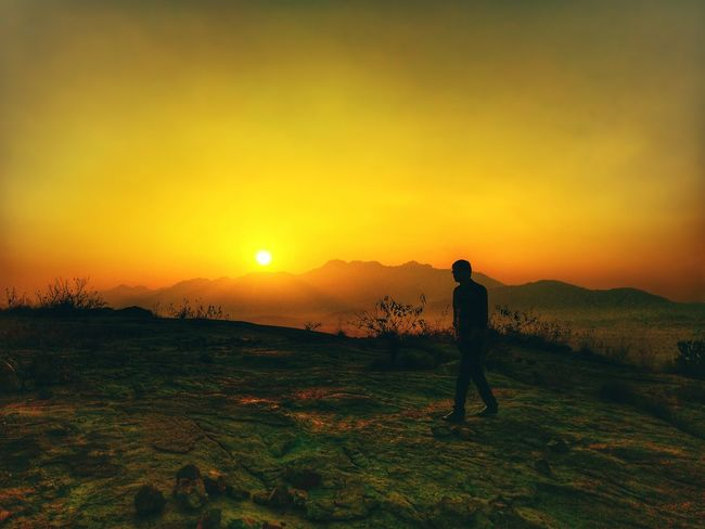 Sunset One Person Full Length Standing Sky Outdoors People Beauty In Nature Photography Themes Camera - Photographic Equipment Only Men One Man Only Day Adult Adults Only