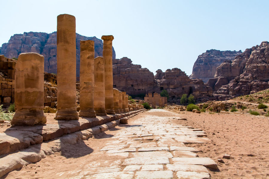 Ancient City Ancient Culture Petra, Jordan Columns Archeological Nabatean Travelphotography Colours Sunny Day