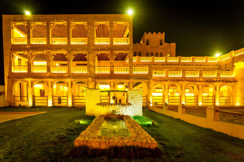 Famous Place Horse Stables National Landmark Old Market Showcase Qatar Tourist Attraction  Well  Yellow