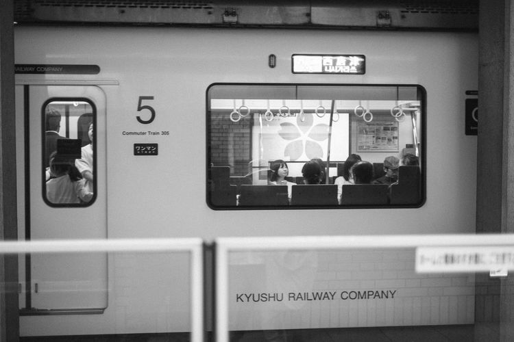 EyeEm EyeEm Best Shots EyeEm Selects EyeEm Gallery Japan Japan Photography Japanese  X-PRO2 Black And White Blackandwhite Enjoying Life Fujifilm Fujifilm_xseries Monochrome Public Transportation Rail Transportation Subway Train Transportation Window