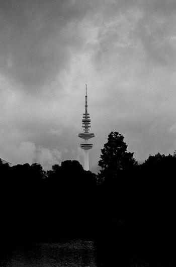 35mm Analogue Photography Hamburg Heinrich-Hertz-Turm Ishootfilm Architecture Blackandwhite Canon Canonphotography Film Photography Fujifilm Monochrome Silhouette Sky Tower Welovehh