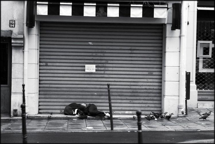 Paris Down And Out In Paris Monochrome Street