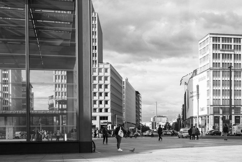 5X7 Inch Analogue Photography Bahnhof Potsdamer Platz Berlin Berlin Mitte Largeformat Potsdamer Platz Streetphotography
