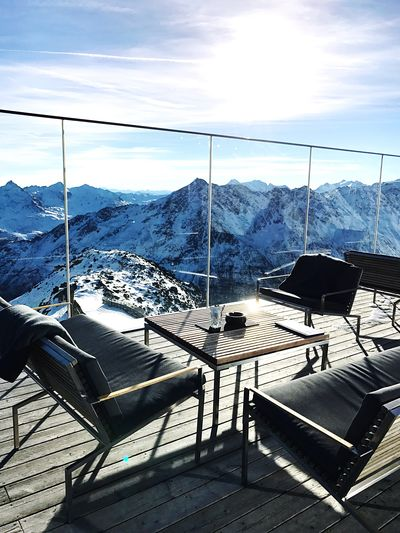 Throwback Sölden 🎿 Throwback Sölden Sölden Ski Area Soelden Roadtrip Iceq View From Above View Mountain Mountains Mountain View Mountains And Sky Nature Cold Temperature Winter Landscape IPhoneography Iphoneonly Beautiful