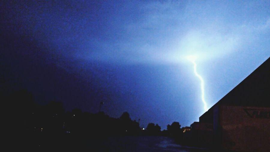 Beautiful stormy night
