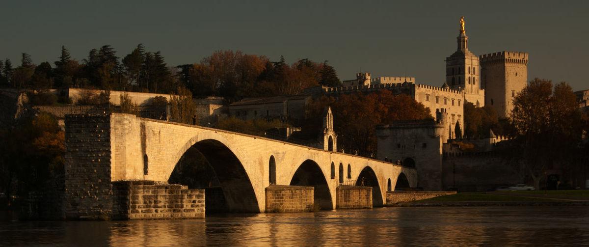 Avignon France Rhône River Arch Arch Bridge Architecture Bridge Bridge - Man Made Structure Building Building Exterior Built Structure History Outdoors River The Past Travel Destinations Tree Water