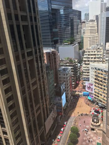 Building Exterior Architecture High Angle View City Street Transportation Road Land Vehicle Day Outdoors Cityscape Tall Hong Kong